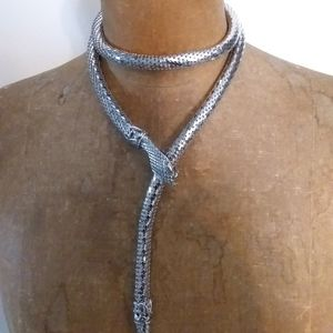 Whiting and Davis Jewelry - Vintage Whiting and Davis Mesh Snake Necklace